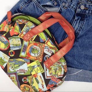 Vintage | 80's World Stamped Multi Color Hand Bag
